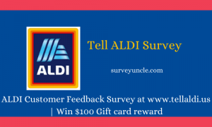 ALDI Customer Feedback Survey at www.tellaldi.us | Win $100 Gift