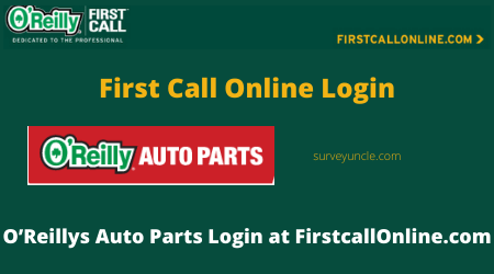 First Call Online - O'Reillys Auto Parts Login at FirstcallOnline.com