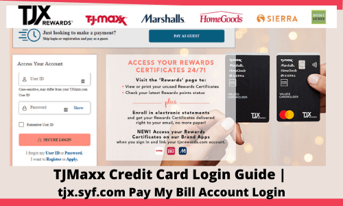 TJMaxx Credit Card Login Guide | tjx.syf.com Pay My Bill Account Login