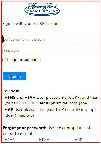 How to login at HenryFordConnect Account?