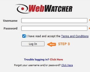 How to login at Webwatcher Account?
