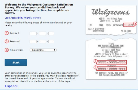 Walgreens Customer Survey Step by Step Guide-
