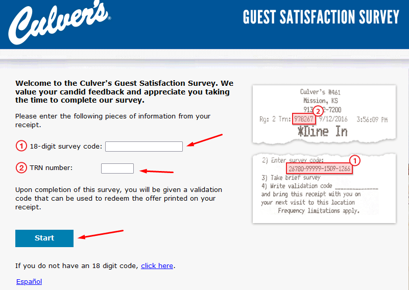 Step by step login guide for Tellculvers.com survey