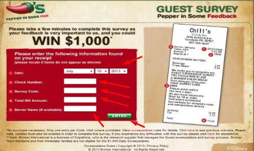 How to login into Chilis to go survey?